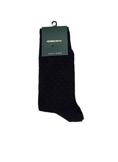 George Hogg George Hogg Puantiyeli Siyeh Erkek Çorap Lacivert